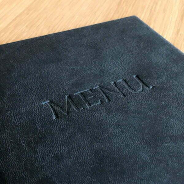 Karta menu z tłoczeniem