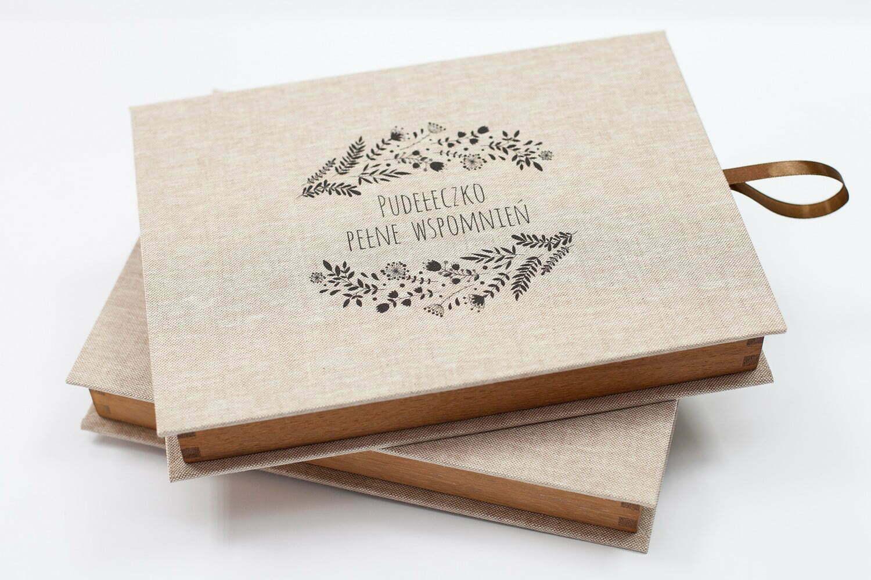 drewniane pudełko na zdjęcia 15x21