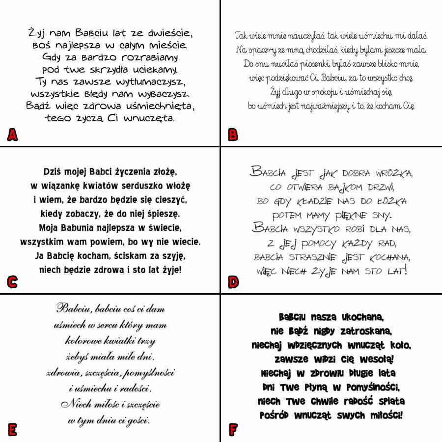 Wierszyki Na Dzień Babci I Dziadka Kolorowy Zawrót Głowy